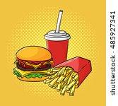 vector hand drawn pop art... | Shutterstock .eps vector #485927341