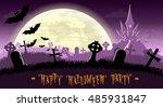 halloween background. monsters... | Shutterstock .eps vector #485931847