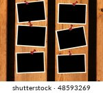 empty old photos pined on... | Shutterstock . vector #48593269