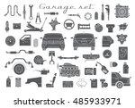 garage. vector car parts set...   Shutterstock .eps vector #485933971