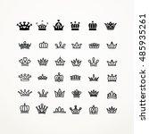 vector heraldic elements design.... | Shutterstock .eps vector #485935261