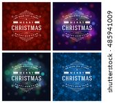 christmas typography greeting... | Shutterstock .eps vector #485941009