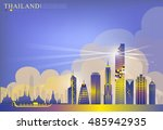 vector of building landmark of... | Shutterstock .eps vector #485942935