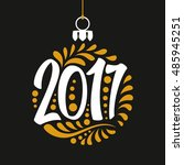 holidays greeting card with a... | Shutterstock .eps vector #485945251