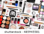decorative cosmetics  top view | Shutterstock . vector #485945581