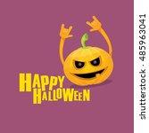 pumpkin rock n roll style... | Shutterstock .eps vector #485963041