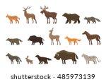 Animals Icon Set. Vector...