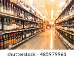 blurred image of wine shelves... | Shutterstock . vector #485979961