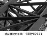 tilt bottom view of steel... | Shutterstock . vector #485980831