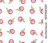 seamless pattern in vintage... | Shutterstock .eps vector #485988589