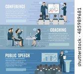 public speech coaching and... | Shutterstock . vector #485989681