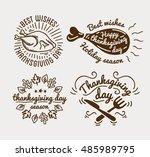 set of labels design template... | Shutterstock .eps vector #485989795