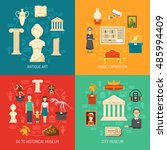 museum 2x2 design concept set... | Shutterstock . vector #485994409
