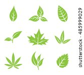 vector illustration of green... | Shutterstock .eps vector #485999029