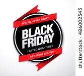 black friday sale label | Shutterstock .eps vector #486002545