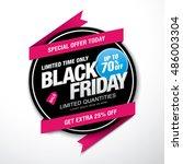 black friday sale label | Shutterstock .eps vector #486003304