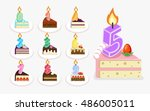 Vector First Birthday Cake Wit...
