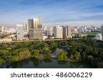 bangkok thailand city skyline... | Shutterstock . vector #486006229