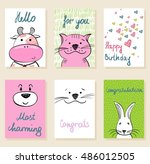 collection of cute artistic...