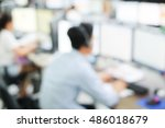 blurred group of employee... | Shutterstock . vector #486018679