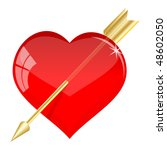 red valentine's greetings card...   Shutterstock .eps vector #48602050