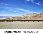 side view of a country road ... | Shutterstock . vector #486021019