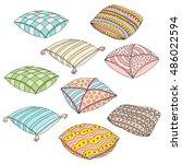 vector cartoon decorative...   Shutterstock .eps vector #486022594