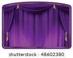 Theater Curtain Purple Tied...