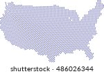 map us  united states by... | Shutterstock .eps vector #486026344