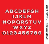 vector alphabet with numbers | Shutterstock .eps vector #486031285