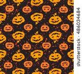 Halloween Pumpkin Seamless...