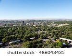 the skyline of billings ... | Shutterstock . vector #486043435