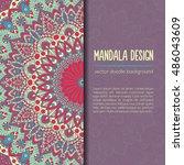 vector mandala decor for your... | Shutterstock .eps vector #486043609