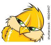 yellow bird | Shutterstock .eps vector #48604447