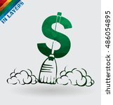 cleanup dollar currency sign