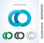 abstract letter c logo set.... | Shutterstock .eps vector #486056035