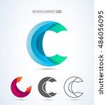 letter c logo icon design... | Shutterstock .eps vector #486056095
