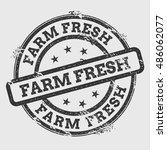 farm fresh rubber stamp... | Shutterstock .eps vector #486062077