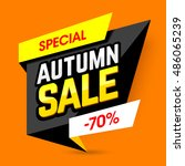 special autumn sale banner... | Shutterstock .eps vector #486065239