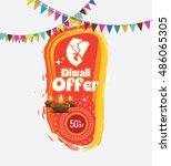 traditional diwali offer banner ... | Shutterstock .eps vector #486065305