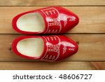 Dutch Holland Red Wooden Shoes...