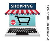 open notebook internet store... | Shutterstock .eps vector #486067651