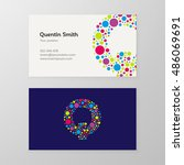 modern letter q circle colorful ... | Shutterstock .eps vector #486069691