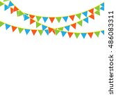 party flags | Shutterstock .eps vector #486083311
