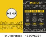 cafe menu food placemat... | Shutterstock .eps vector #486096394
