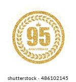 template logo 95 years...   Shutterstock .eps vector #486102145