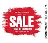 sale banner template design | Shutterstock .eps vector #486108475