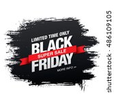 black friday sale banner | Shutterstock .eps vector #486109105