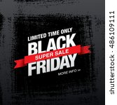black friday sale banner | Shutterstock .eps vector #486109111