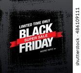 black friday sale banner | Shutterstock .eps vector #486109111